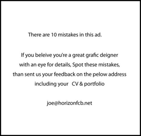 Your job posting sucks.